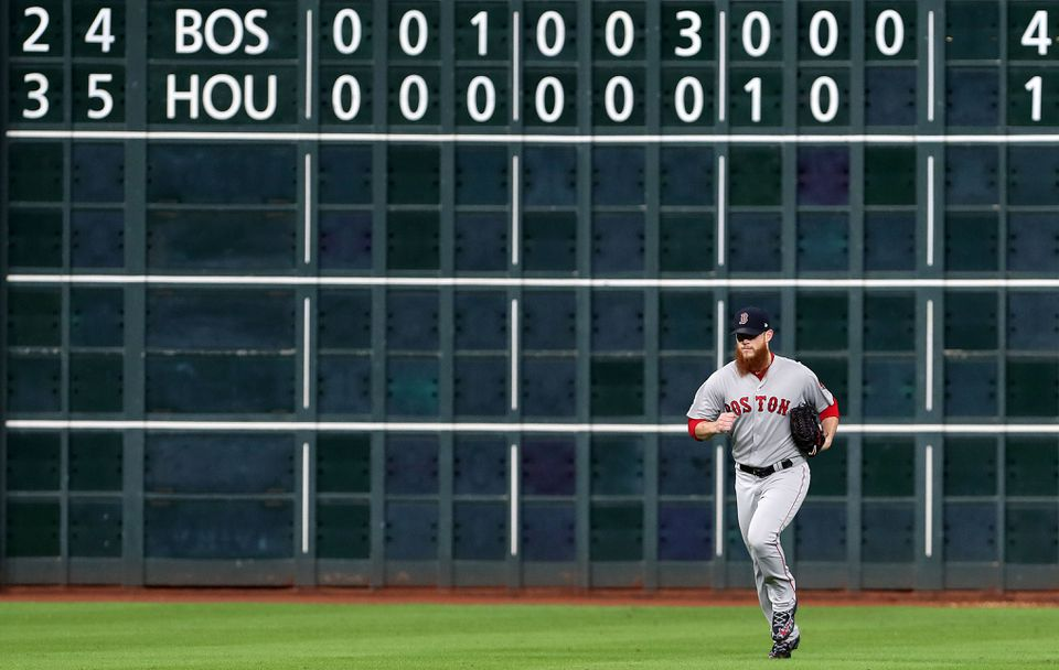 The Red Sox outscored the Astros 29-21 in the ALCS.