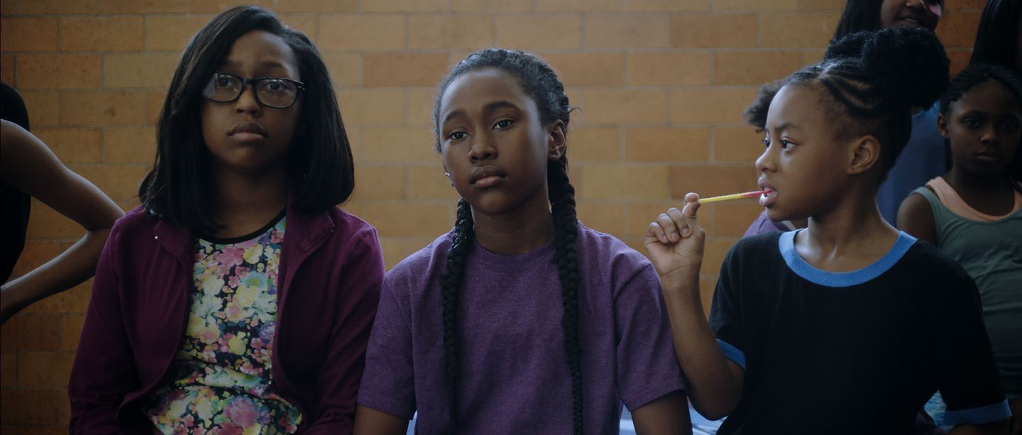 "From left: Lauren Gibson, Royalty Hightower, and Alexis Neblett in ""The Fits."""