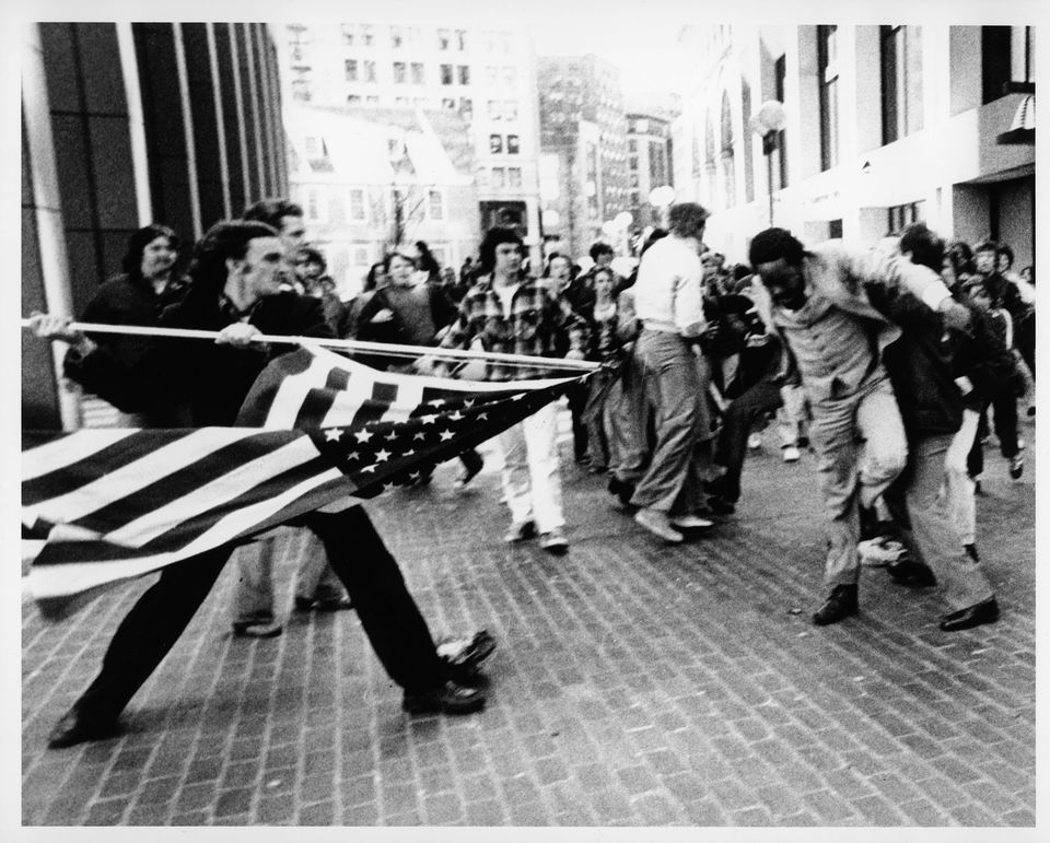 In 1976, a 29-year-old black Yale-educated lawyer was attacked by racists against integration in Boston and nearly impaled by an American flag on his way to work.