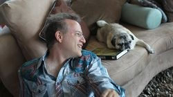 Author Ben Mezrich with his dog Bugsy in a 2014 file photo.