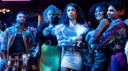"""From left: Dyllón Burnside as Ricky, Hailie Sahar as Lulu, Mj Rodriguez as Blanca, Indya Moore as Angel, and Angel Bismark Curiel as Lil Papi in """"Pose."""""""