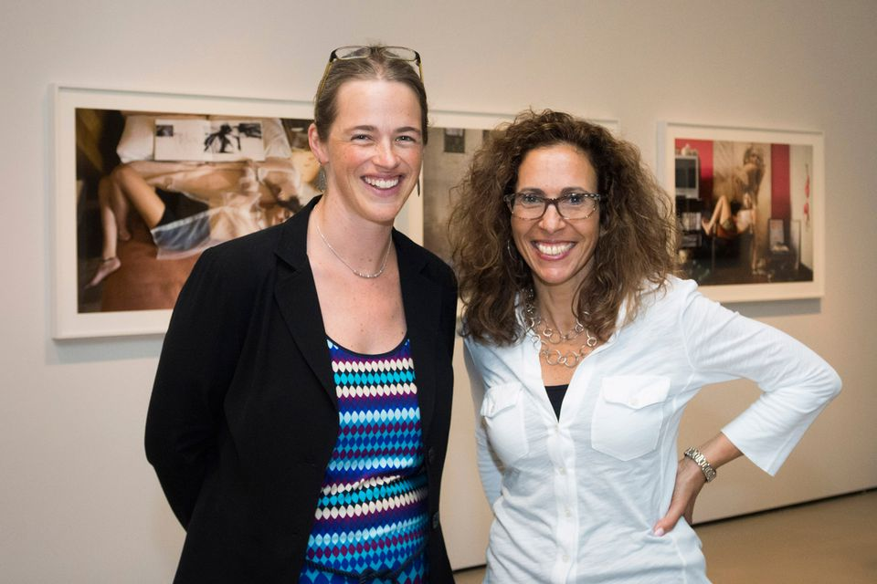 Photographer Rania Matar (right) with curator Kristen Gresh at the Museum of Fine Arts.