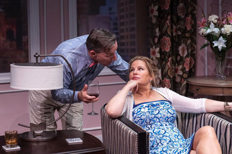 """Alexander Cook and Jennifer Coolidge in """"Saving Kitty."""""""