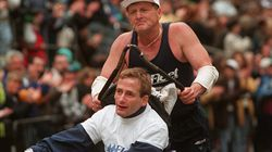 Dick and Rick Hoyt completed 32 Boston Marathons between 1980 and 2014.