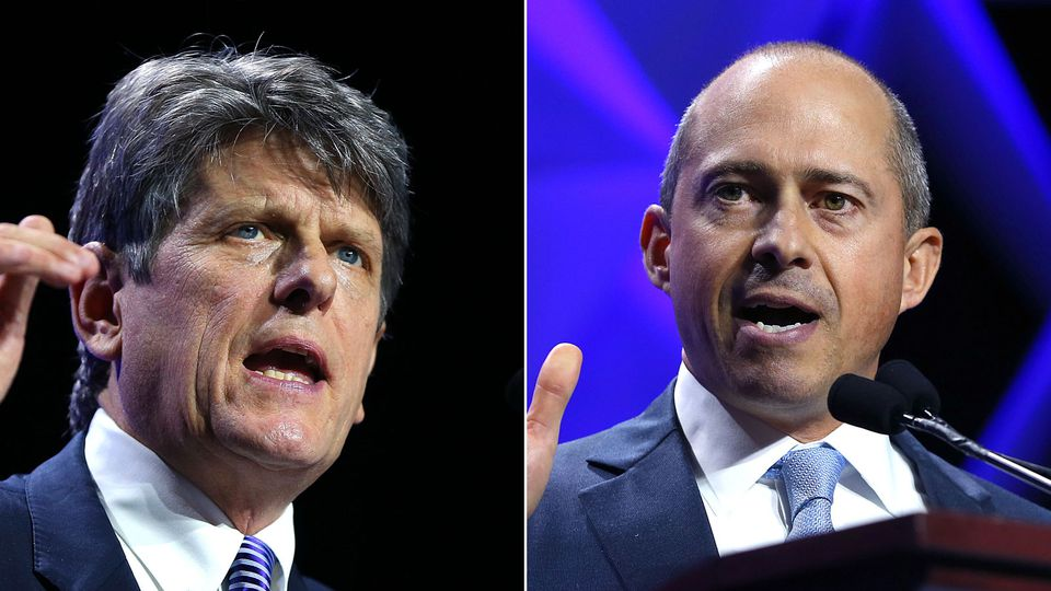 The two Democratic candidates for governor, Bob Massie (left) and Jay Gonzalez (right), are keying in on transportation in their bids to unseat Charlie Baker.