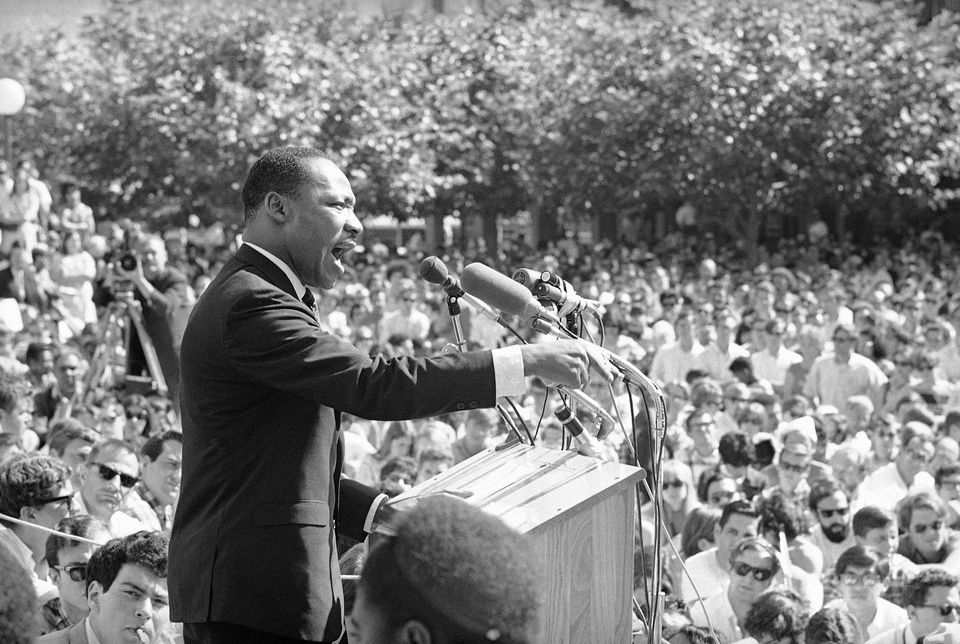 "Fifty years ago, Martin Luther King Jr. asked Americans, ""Where do we go from here?"" His warning of chaos or community  marked a shift from his emphasis on nonviolence."
