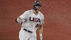 Triston Casas rounds the basses after hitting a two-run home run in Team USA's win over South Korea.