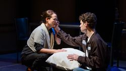 """Jennifer Rohn and Nathan Malin in SpeakEasy Stage's production of """"The Sound Inside."""""""