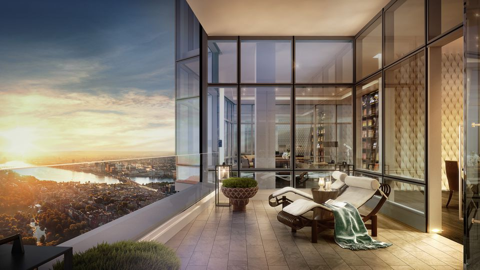 A rendering of the penthouse in Millennium Tower.