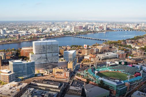 Approaching Boston from the west will never be the same: Long-planned Fenway Center is about to rise