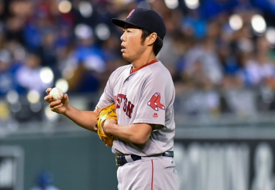 Koji Uehara gave up three hits and two runs in two-thirds of an inning Tuesday.
