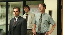 """From left: Steve Carell, John Krasinski, and Rainn Wilson in """"The Office."""""""