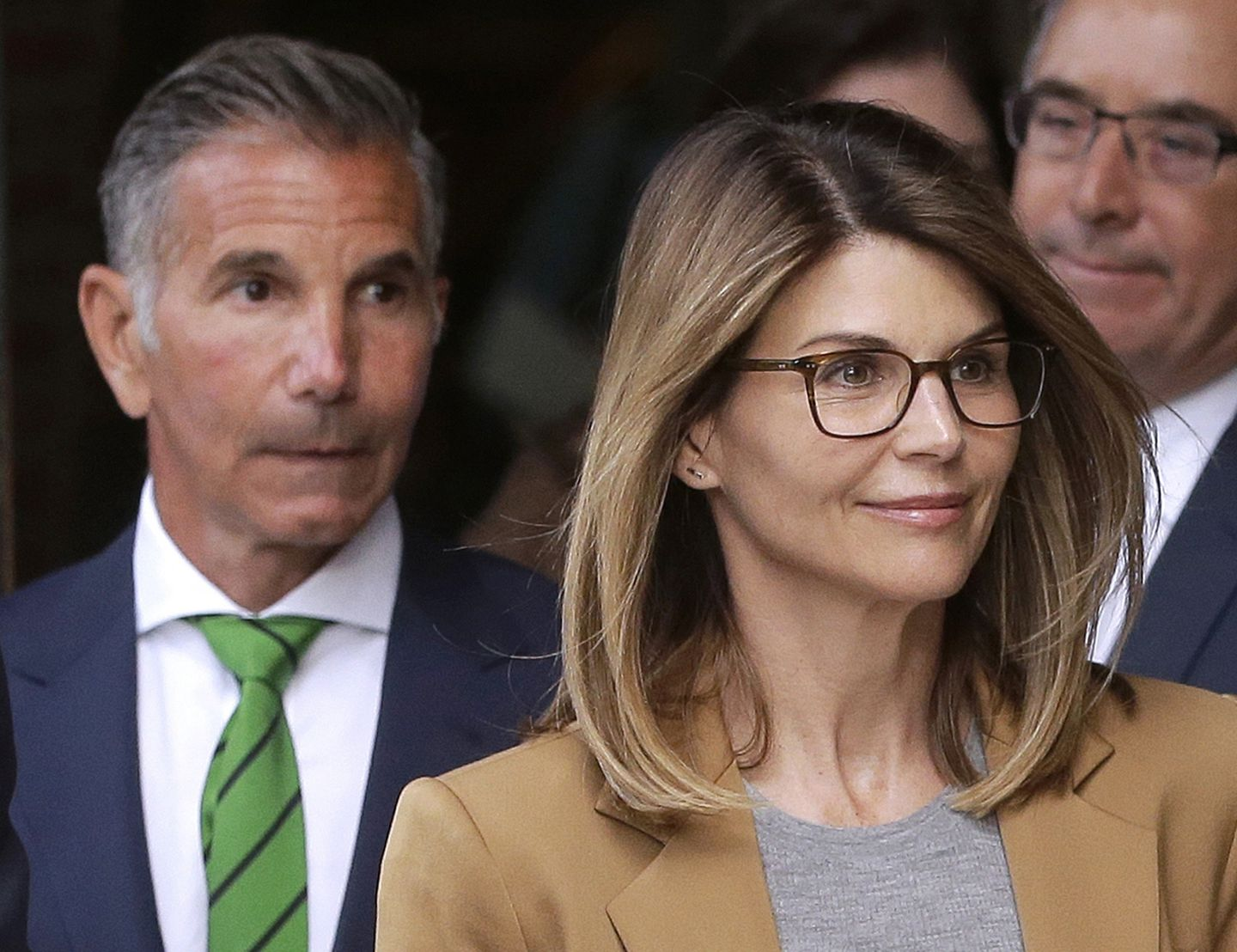 Lori Loughlin and her husband, Mossimo Giannulli, departed federal court in Boston after facing charges in April.