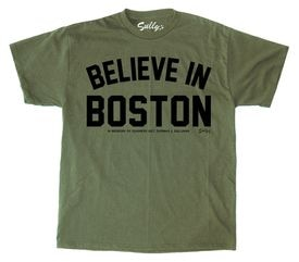 "Sully's Brand is selling a version of their ""Believe in Boston"" T-shirt in honor of Marine Sergeant Thomas J. Sullivan."