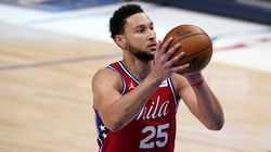 76ers guard Ben Simmons shot 34 percent from the free-throw line in the postseason last year.