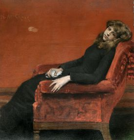 """The Young Orphan"" will be in the MFA's William Merritt Chase exhibit."