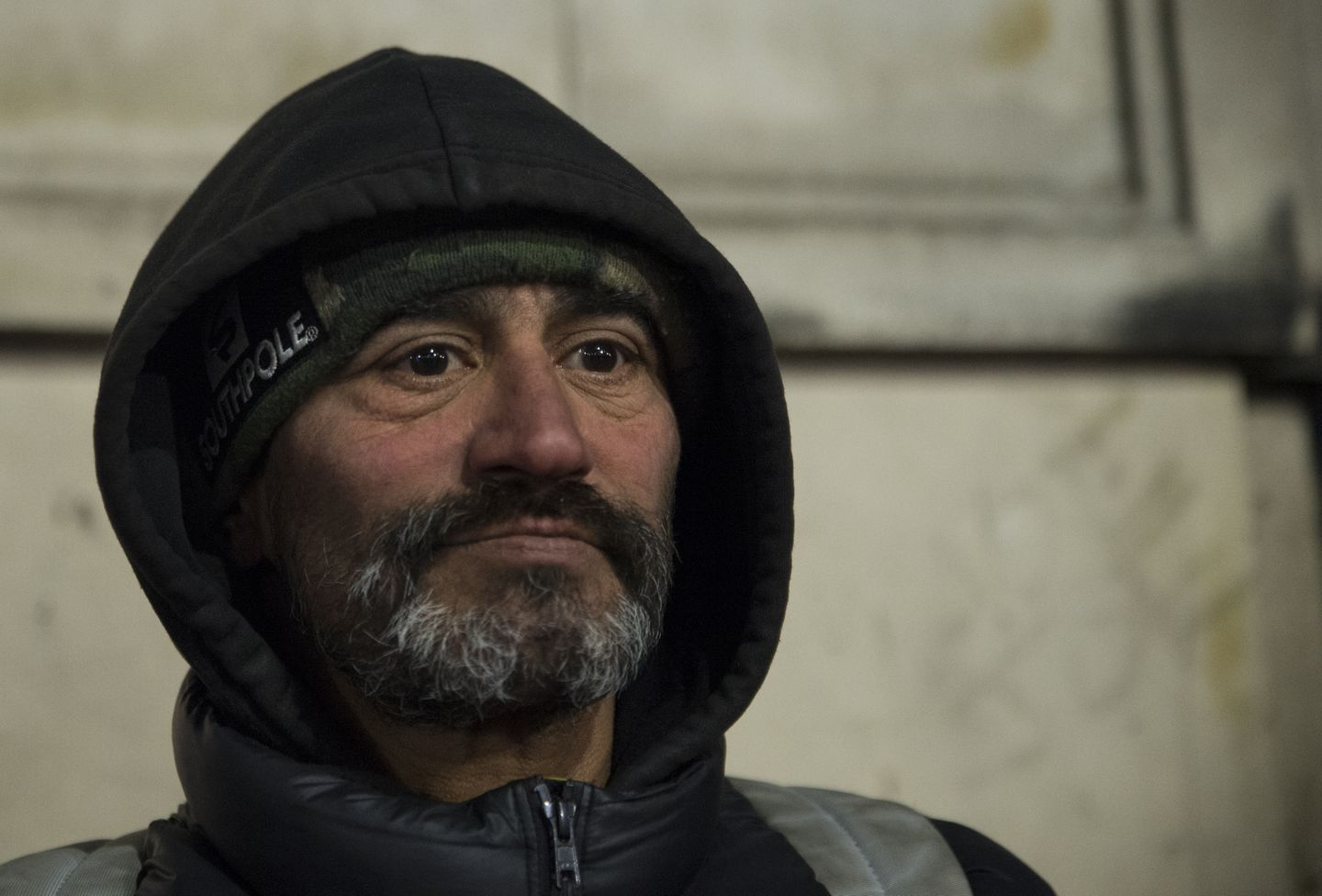 Jose Ortega, 53, posed for a portrait during the 2020 Homeless Census. He has been homeless on and off since 2006.