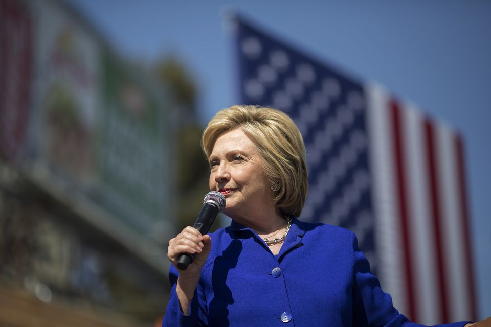 Hillary Clinton spoke at a Get Out the Vote Rally in Los Angeles Monday.