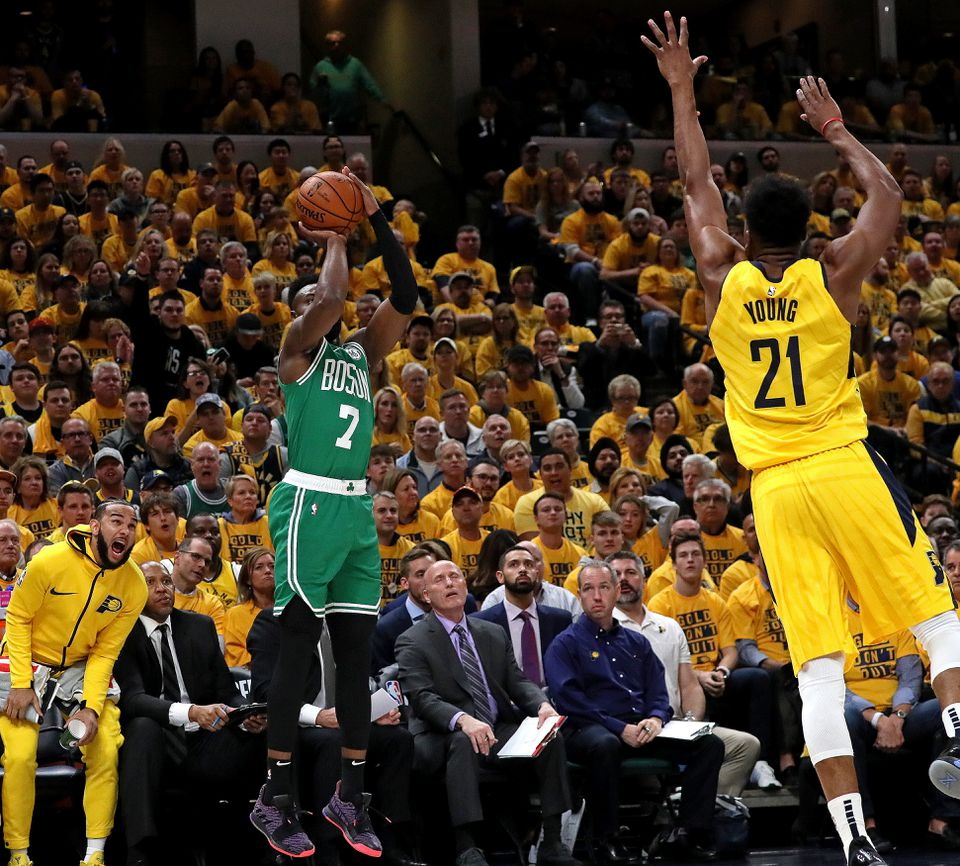Jaylen Brown hit 8 of 9 shots, including 4 of 5 from 3-point range.