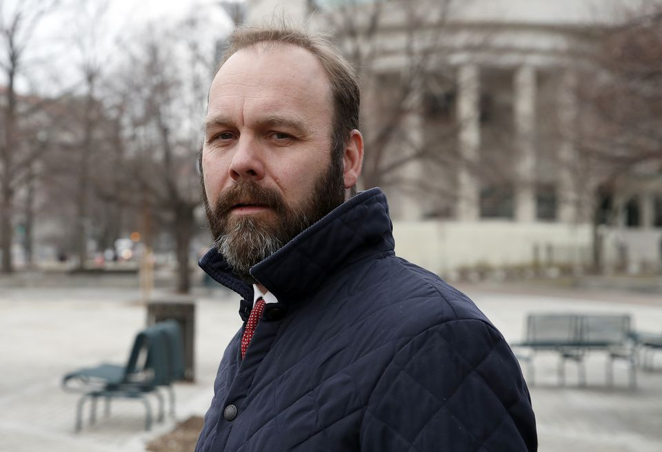 Rick Gates departed Federal District Court in Washington in February 2018.