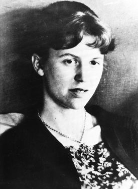 An undated file photo of American author Sylvia Plath.