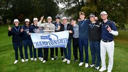 It was a banner day for the St. John's Prep golf team as the Eagles hoisted the hardware after capturing the Div. 1 state title on Monday at Wentworth Hills CC in Plainville, Mass.