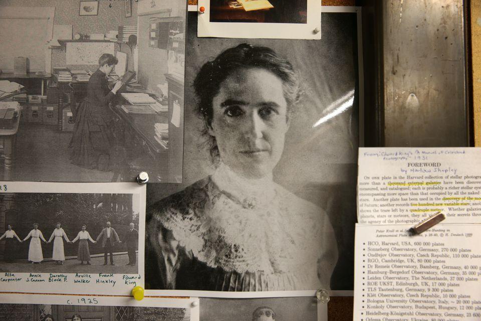 "Photos of ""women computers"" Williamina Fleming (top left) and Henrietta Swan Leavitt."