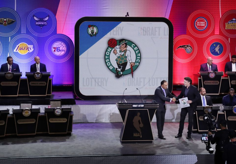 The Celtics were awarded the first pick at May's draft lottery before trading it to Philadelphia.