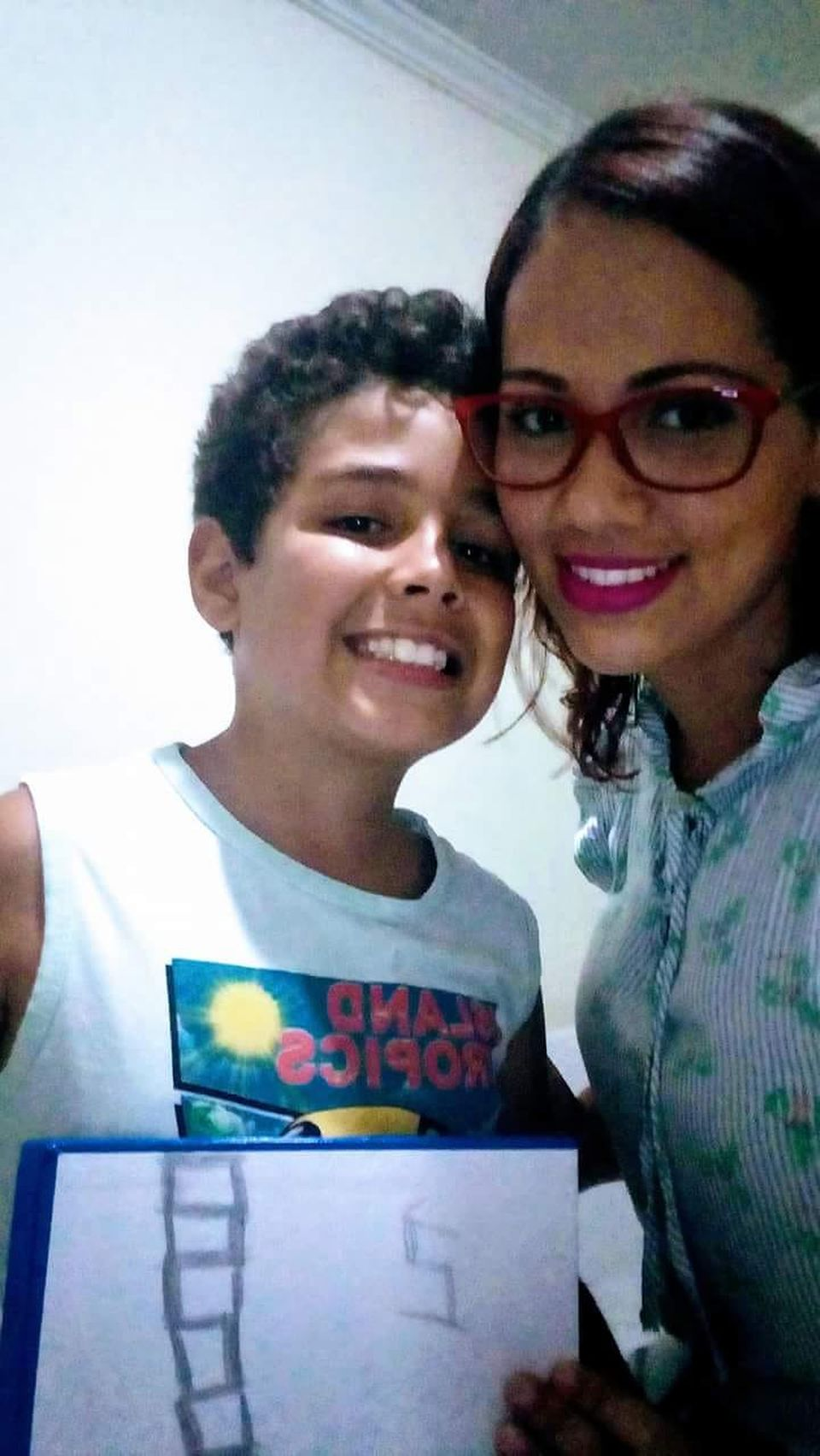 Lidia Souza and her son Diogo