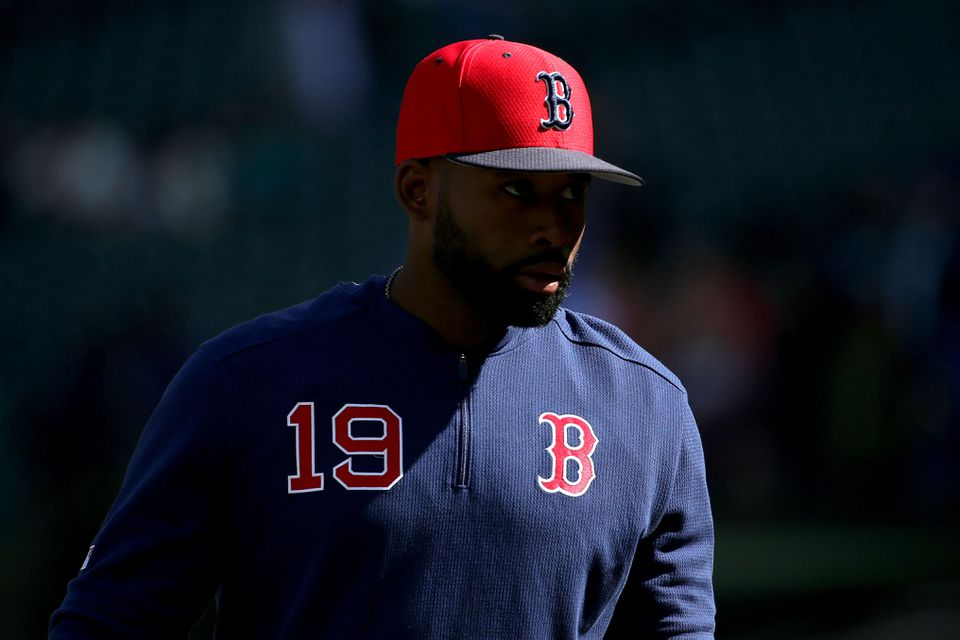 Entering Wednesday, Jackie Bradley Jr. had swung and missed at 18.1 percent of all pitches he'd seen, the fourth-highest rate in the big leagues.