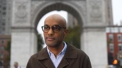 Music journalist and author Kelefa Sanneh, shown in Washington Square Park in Manhattan. Sanneh spent some of his youth in Cambridge and later worked at Newbury Comics' warehouse while taking a year off from Harvard.