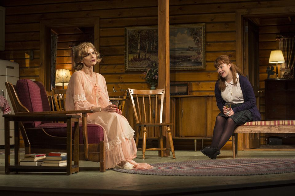 """Kyra Sedgwick (left) and Mary Wiseman in """"Off the Main Road,"""" at Williamstown Theatre Festival."""