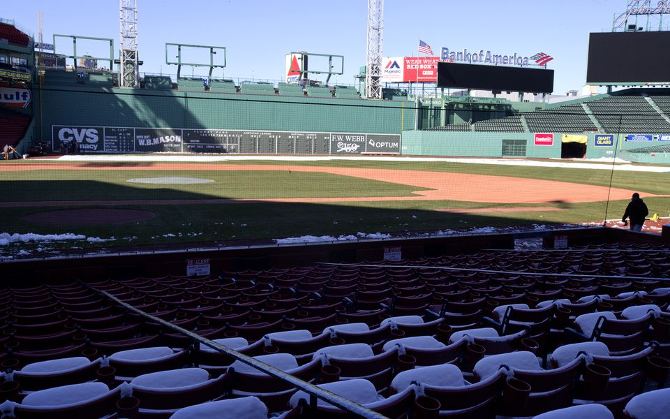 The new netting will see its first game action Monday during the Red Sox home opener.
