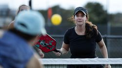 Lindsay Murachver played pickleball with some friends at Assembly Row.