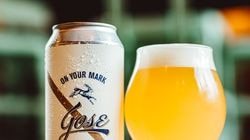 """""""On Your Mark, Gose,"""" is a gose-style ale with lemon, lime, and salt."""