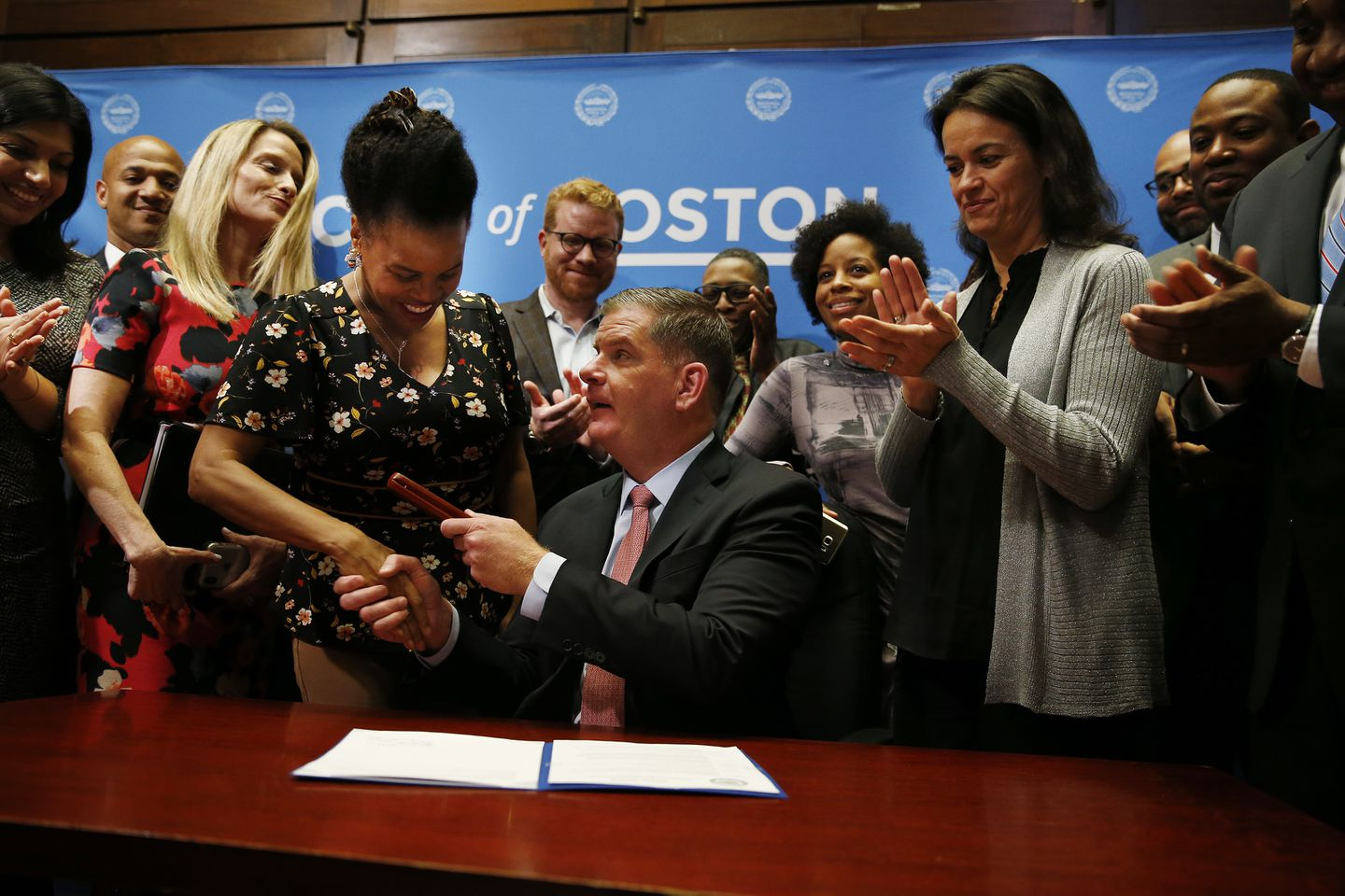Walsh signs marijuana ordinance at City Hall ceremony - The Boston ...