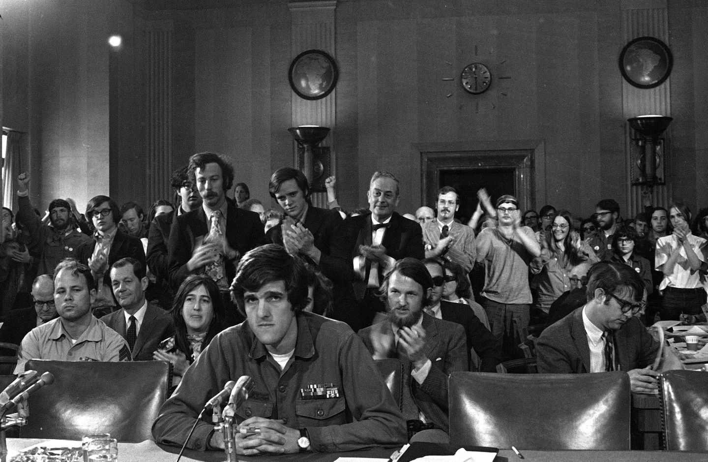 John Kerry, 27, testified about the war in Vietnam before the Senate Foreign Relations Committee in on April 22, 1971.