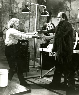 Young Frankenstein A Mel Brooks Film Young Dr. Frankenstein (Gene Wilder) helps his brainchile (Peter Boyle) take his first giant steps. 22tickettv 19crit 22tickettv