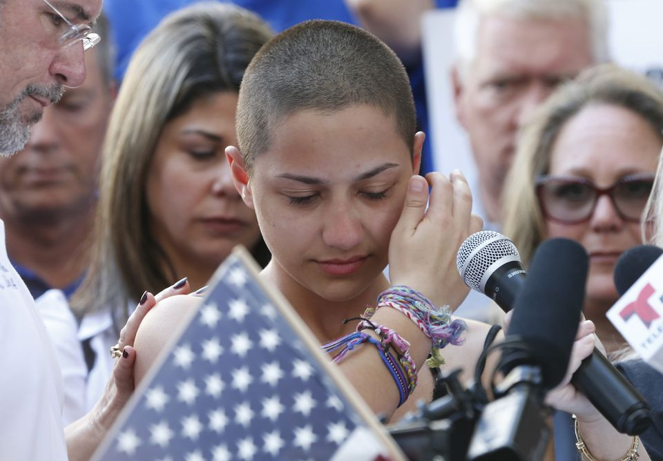 Marjory Stoneman Douglas High School student Emma Gonzalez spoke at a rally for gun control at the Broward County Federal Courthouse in Fort Lauderdale, Fla.