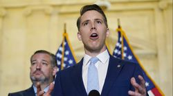 Republican Senators Ted Cruz of Texas (left) and Josh Hawley of Missouri each brought in more than $3 million in campaign donations in the three months that followed the Jan. 6 attack on the Capitol.