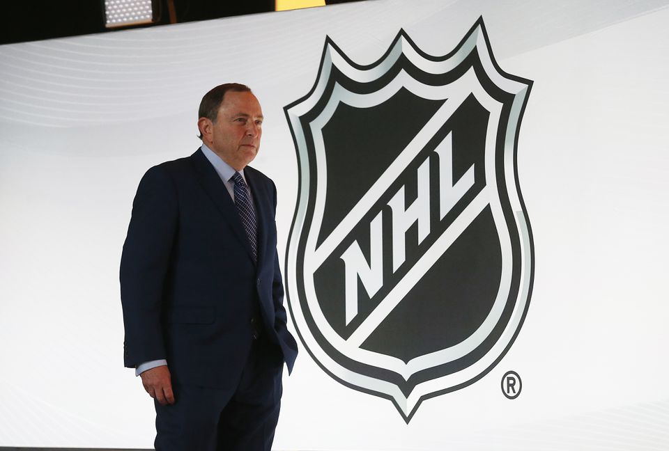 NHL commissioner Gary Bettman looks on during the NHL draft.