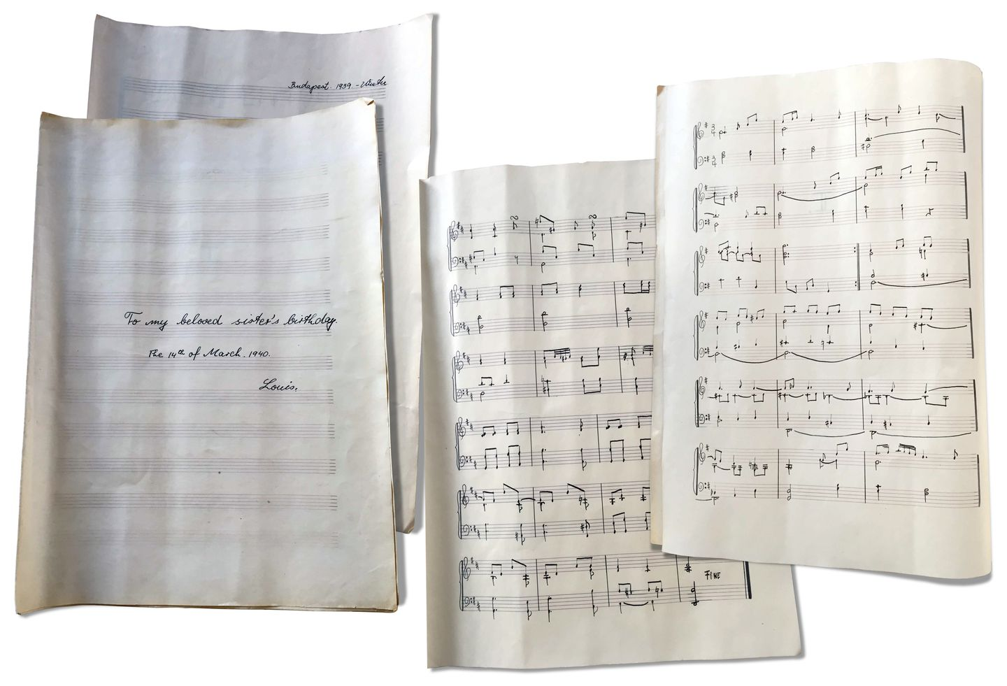 A trio of works for solo piano Delej composed for his sister on her 25th birthday.