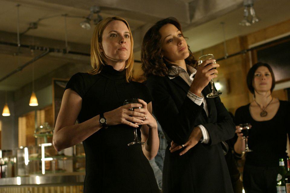 "Laurel Holloman (left) and Jennifer Beals in the original ""The L Word."""