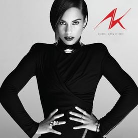 "The cover of Alicia Keys's ""Girl on Fire."""
