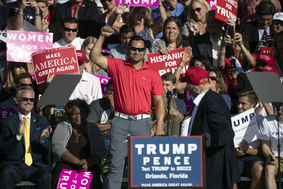 Johnny Damon at a rally for Republican presidential candidate Donald Trump in Orlando, Fla., earlier this week.