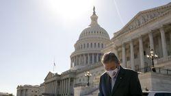 Senator Joe Manchin departs the Capitol in Washington on Wednesday.