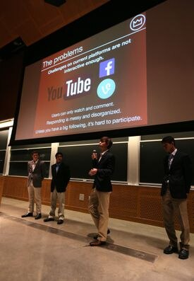 Team members delivered their presentation before judges at the Stata Center at MIT.