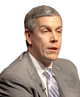 """US Secretary of Education Arne Duncan is seeing more and more graduates of four-year universities going to community colleges for the """"technical training to get a real job."""""""