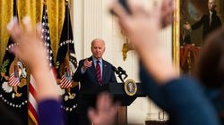 President Joe Biden answered questions from reporters during remarks on vaccination progress in the East Room at the White House.