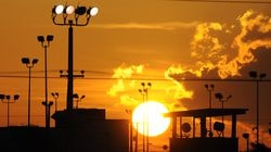 In this Oct. 18, 2012 file photo reviewed by the US Department of Defense, towers overlooking a US detention facility are silhouetted against a morning sunrise at Guantanamo Bay US Naval Base, Cuba.